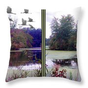 Unicorn Lake - Cross Your Eyes And Focus On The Middle Image Throw Pillow