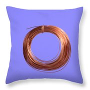 Uninsulated Copper Wire Throw Pillow