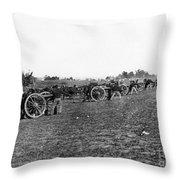 Union Artillery, 1860s Throw Pillow