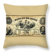 Union Banknote, 1863 Throw Pillow