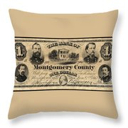 Union Banknote, 1865 Throw Pillow
