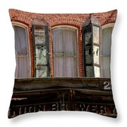 Union Brewery Virginia City Nv Throw Pillow
