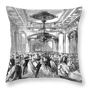 Union League Club, 1868 Throw Pillow