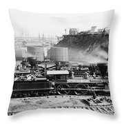 Union Locomotive, C1864 Throw Pillow