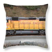 Union Pacific Locomotive . 7d10569 Throw Pillow