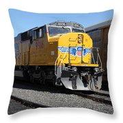 Union Pacific Locomotive Trains . 5d18821 Throw Pillow