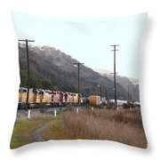 Union Pacific Locomotive Trains . 7d10558 Throw Pillow