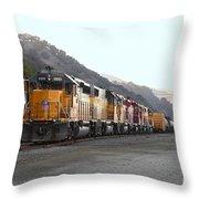 Union Pacific Locomotive Trains . 7d10561 Throw Pillow