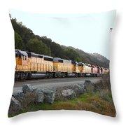 Union Pacific Locomotive Trains . 7d10564 Throw Pillow