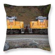 Union Pacific Locomotive Trains . 7d10573 Throw Pillow