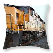 Union Pacific Locomotive Trains . 7d10588 Throw Pillow