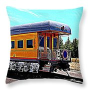 Union Pacific Observation Car In Hdr Throw Pillow