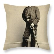 Union Soldier, 1860s Throw Pillow
