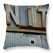 Unite Weathered Sign Throw Pillow