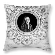 United States, 1787 Throw Pillow