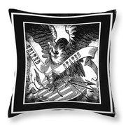 United States Bw Throw Pillow