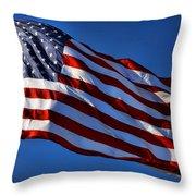 United States Of America - Usa Flag Throw Pillow