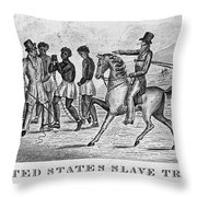 United States Slave Trade Throw Pillow by Photo Researchers