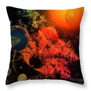 Universal Chaos Throw Pillow