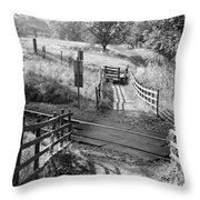 Unmanned Railway Crossing At Hope Throw Pillow