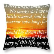 Unmasked Throw Pillow