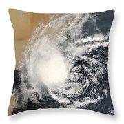 Unnamed Tropical Cyclone Approaching Throw Pillow