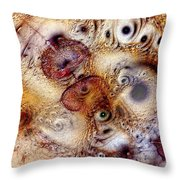 Unphased And Confused Throw Pillow by Casey Kotas