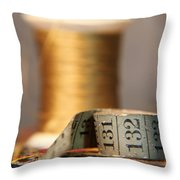 Unraveled By Time Throw Pillow