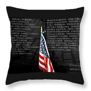 Unspoken Words On A Shiny Wall Throw Pillow
