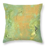 Untitled Abstract - Caramel Teal Throw Pillow