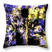 Untitled Blue Throw Pillow