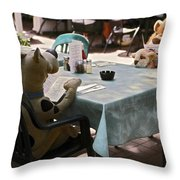 Unusual Diners Throw Pillow