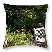 Unwind Throw Pillow by Maria Urso
