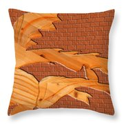 Up Against A Brick Wall Throw Pillow