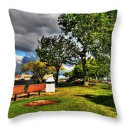 Up All Night Into The Morning Still     I Wait Throw Pillow