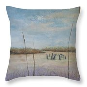 Up Among The Heather Throw Pillow