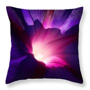 Up Close And Purple Throw Pillow