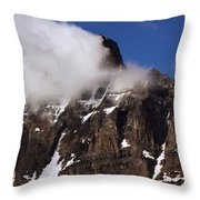 Up Close Of Mountain Throw Pillow