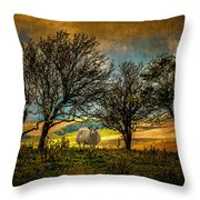 Up On The Sussex Downs In Autumn Throw Pillow