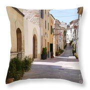 Up The Hill Throw Pillow