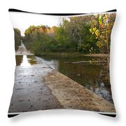 Up The Hill To Home Throw Pillow