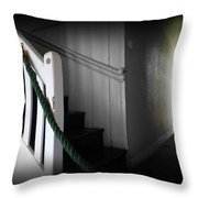 Up The Wooden Hill Throw Pillow