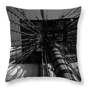 Up To The Crow's Nest - Monochrome Throw Pillow