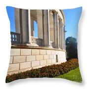 Upclose Of Arlington Memorial Amphitheater Throw Pillow