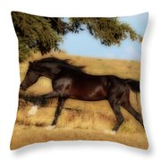 Uphilll Gallop Throw Pillow