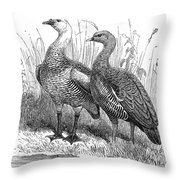 Upland Geese Throw Pillow