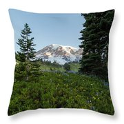 Upon A Hill Of Flowers Throw Pillow