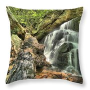 Upper Cascade Hidden Falls Throw Pillow