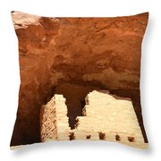 Upper Cliff Dwelling Throw Pillow