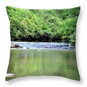Upper Creek Reflections Throw Pillow